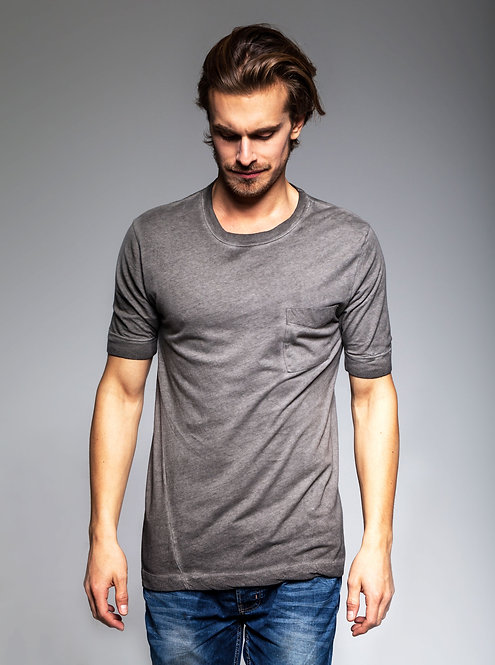 LOW SLEEVE TEE - GRAPHITE CANDY