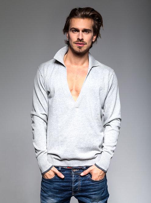 Men's Knit Pullover - light grey htr