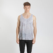 Floral Logo Tanktop Faded Ash