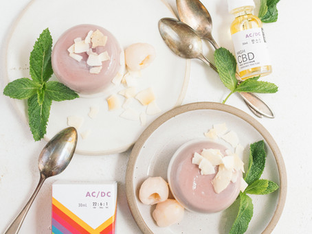 CBD Coconut Lychee Panna Cotta by Sous Weed