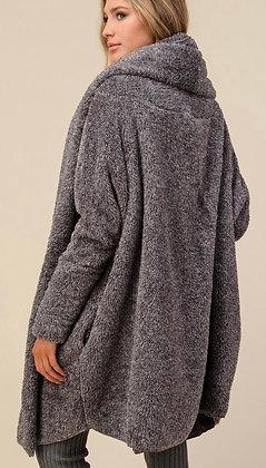 Charcoal Fur Cardigan