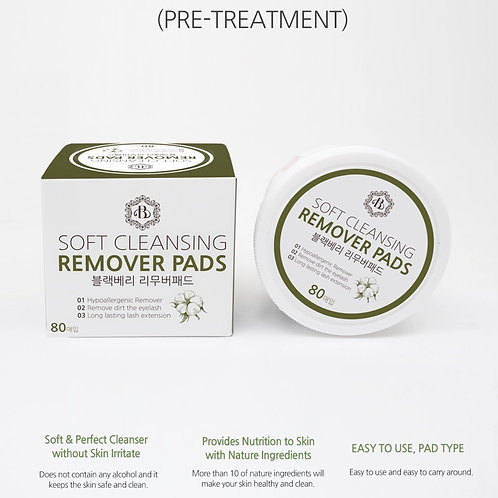Soft Cleansing Removers Pads, Pre-Treatment - 80 pads/box