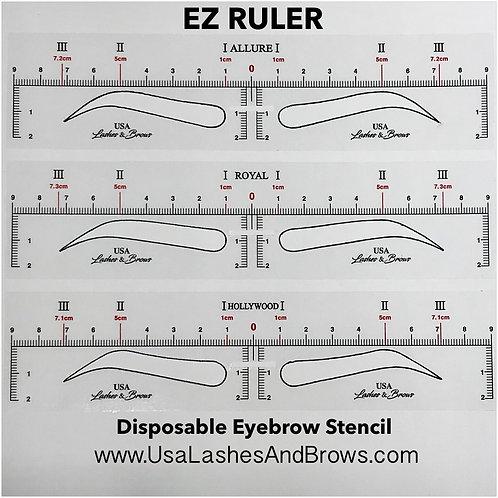 EZ Ruler - Disposable Eyebrow Stencil