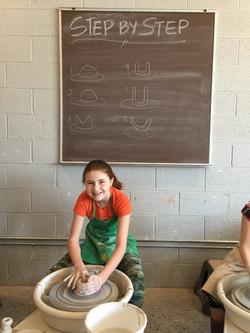 Children's Wheel Thrown Pottery