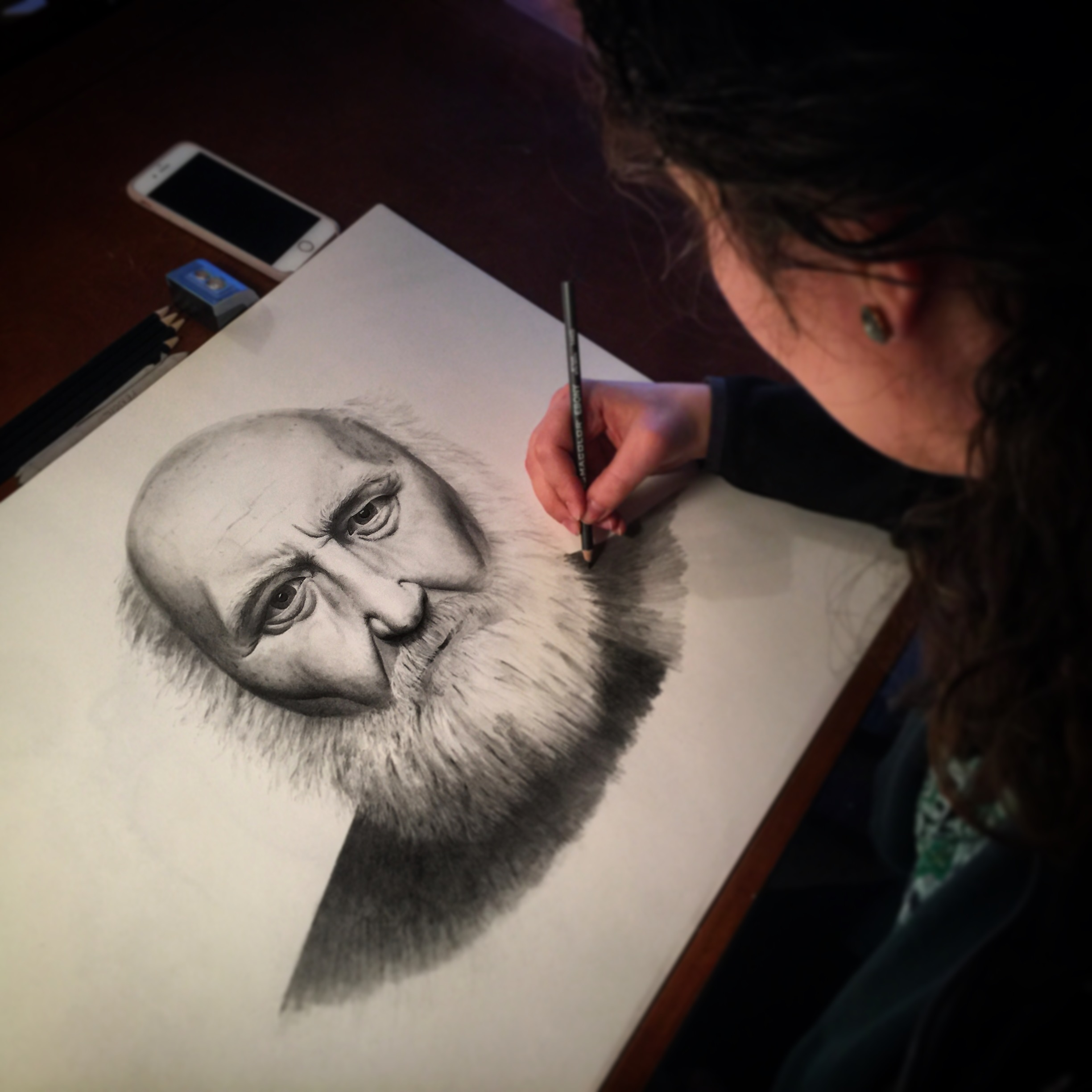 Adult drawing class