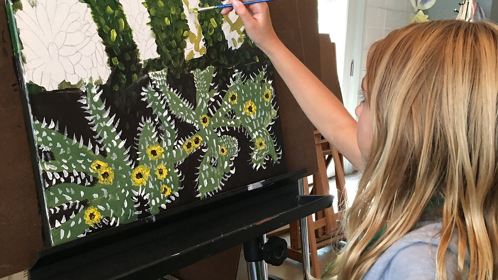 Intro to Acrylics, Aug 16-19, ages 8-14