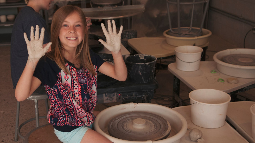 Children's Wheel Thrown Pottery Classes - Saturdays 10-12 pm