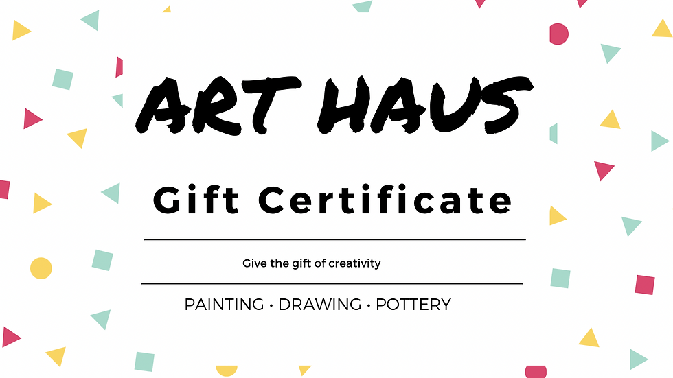 Gift Certificate - Children's Pottery Classes