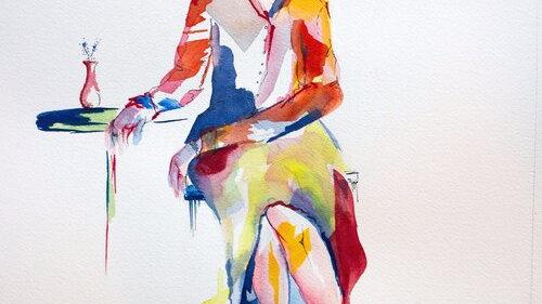 Adult Watercolor/Gouache Painting Classes - Tuesdays 6:15-8:15 pm