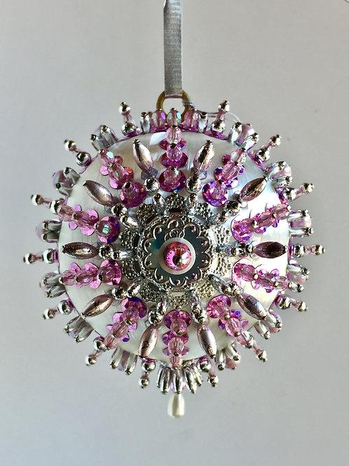 Curio, Duchess, Cotton Candy, Handmade, Ornament, Custom, Crystal, Beaded
