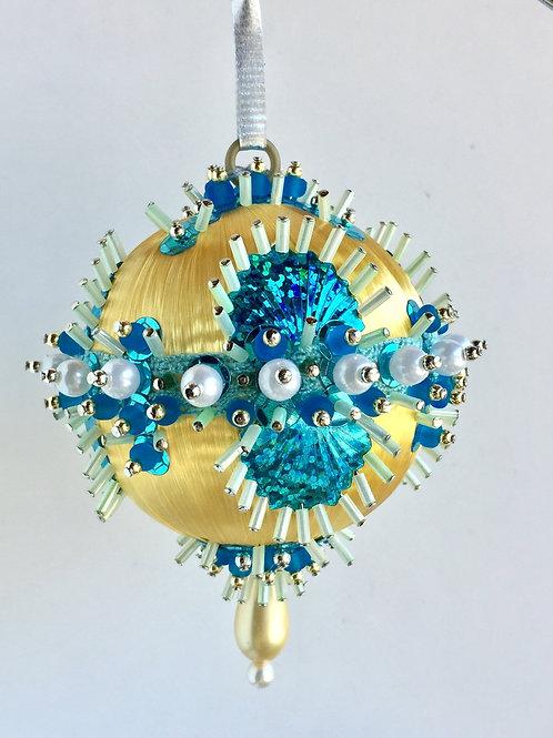 Curio, Baroness, Paradise, Handmade, Ornament, Custom, Crystal, Beaded