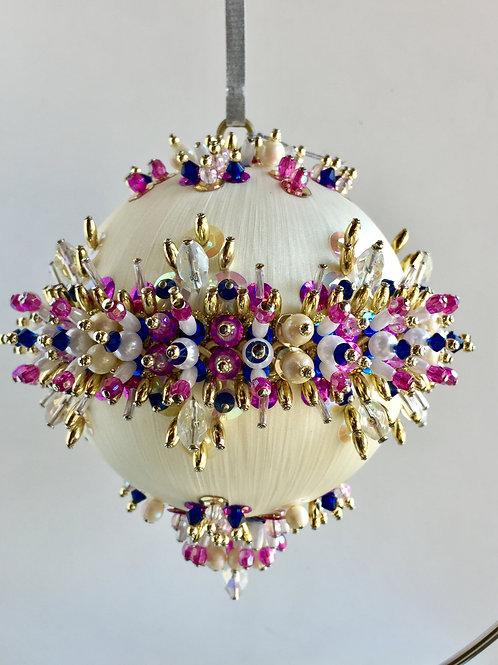 Curio, Princess, Carousel, Handmade, Ornament, Custom, Crystal, Beaded