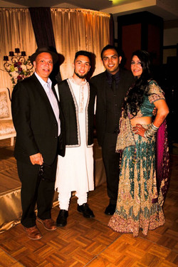 Bride and Groom with KGS and Puran