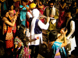 Baraat Band with crowd dancing