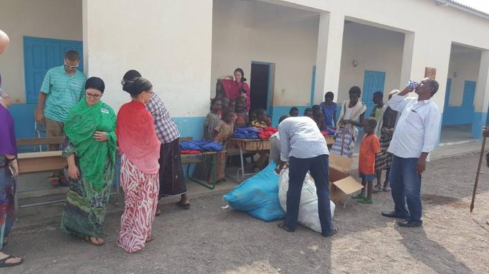 Distributing School Supplies in Villages