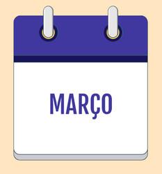 Calendário de Atividades - Março 2020