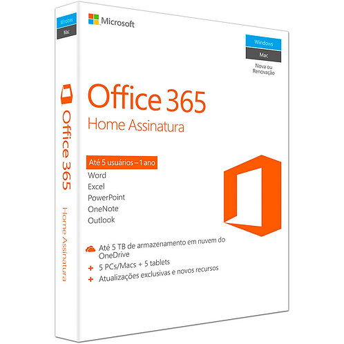 Microsoft Office 365 HOME BRAZILIAN - Assinatura anual