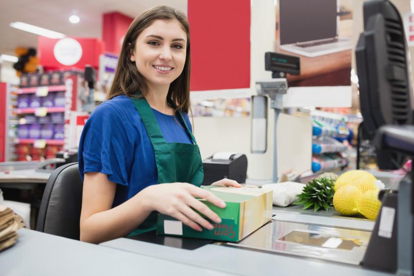 operadora de caixa supermercado