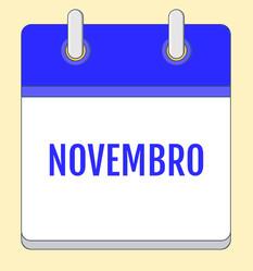 Calendário de Atividades - Novembro 2020