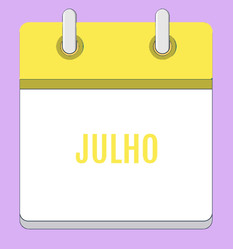 Calendário de Atividades - Julho 2020