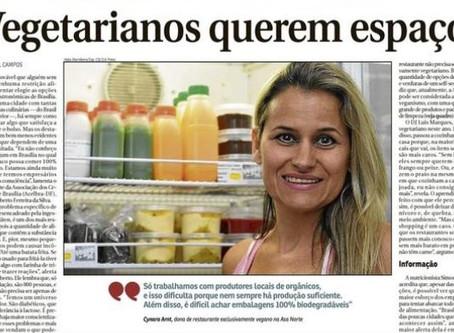 Vegetarianos querem espaço - Correio Braziliense