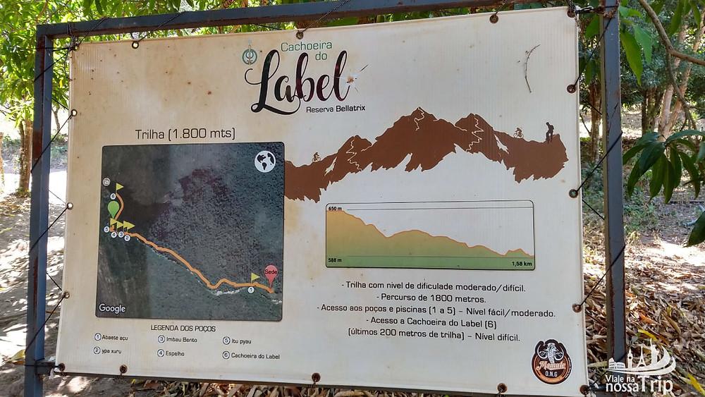 Informações da Trilha da Cachoeira do Label