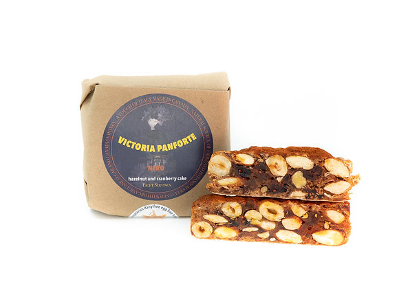 Panforte Nero with hazelnut and cranberry, 240 g, 8 servings