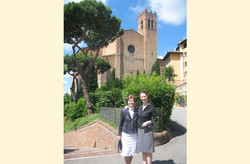 Anne and her mother in Siena