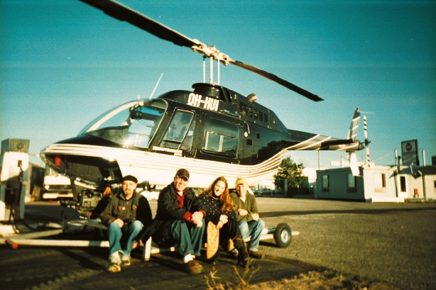 Anne and the film crew in Finland