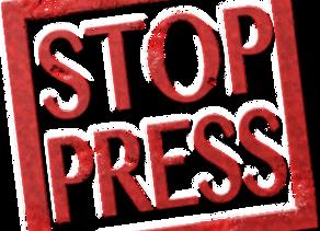Stop Press: Hot from Malta!!