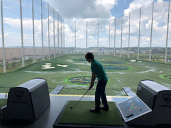 Topgolf with Zach at his farewell party