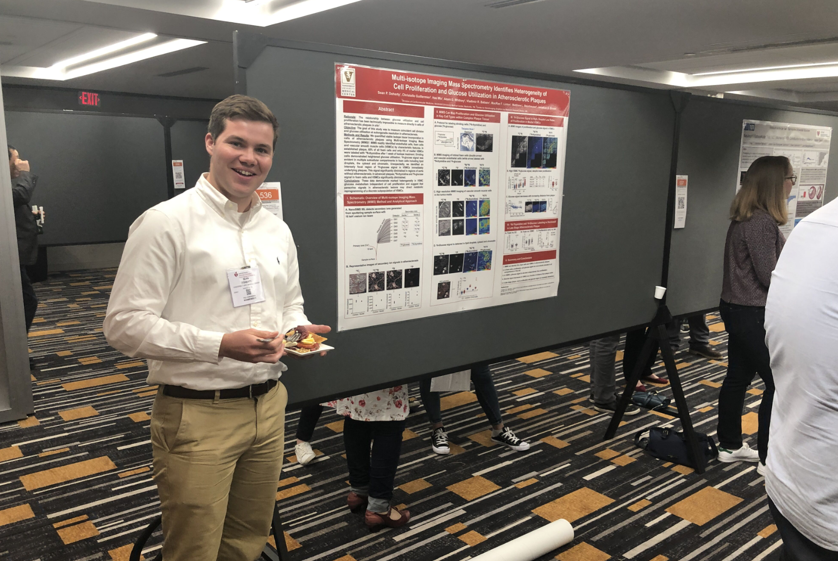 Sean at his poster at Vascular Discovery Meeting, Boston 2019