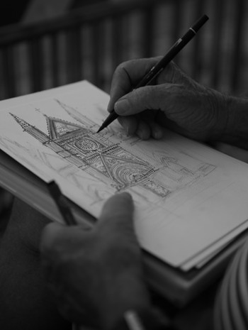 Drawing the Duomo di Orvieto