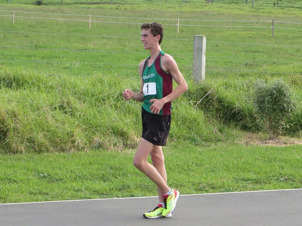 Jared Free Racewalker NZ Championships 2015.  DOYSF
