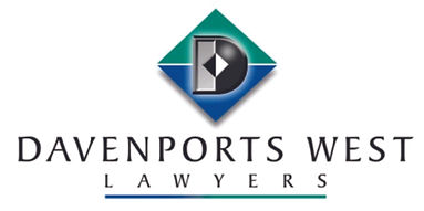 Davenports West Lawyers logo.  Supporters of Don Oliver Youth Sport Foundation provider of sports scholarships for young West Auckland athletes