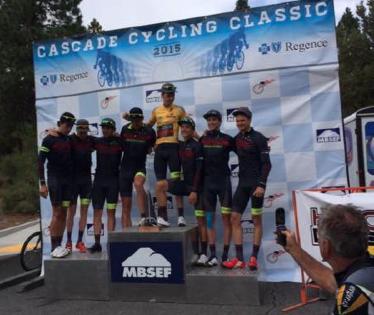 Dion Smith with Hincapir Racing Team mates winning Tour de Beuce Cycling Classic.