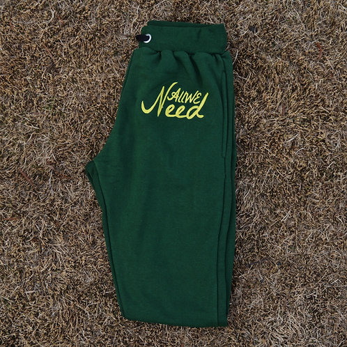 """""""All We Need"""" Joggers (Forest)"""