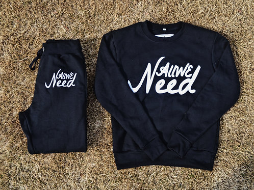 """All We Need""Sweatsuit (Black)"