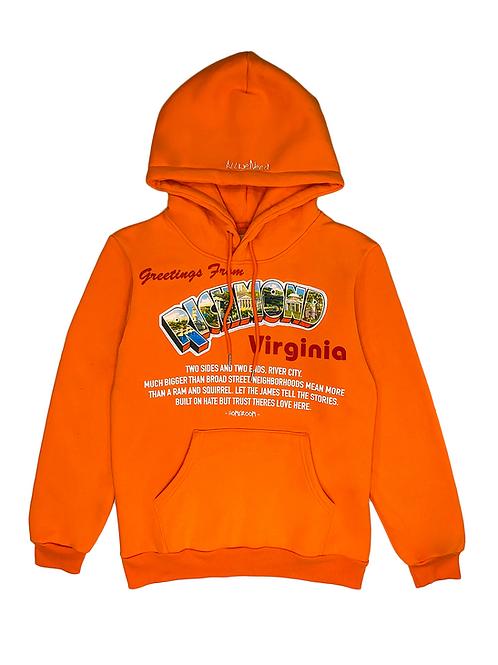 Post Card Hoodie (Orange)