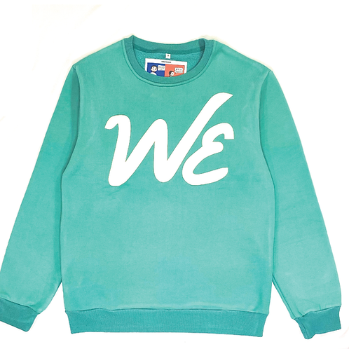 """WE"" Crewneck (Teal)"