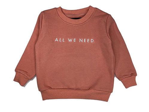 AWN Kids Salmon Sweater