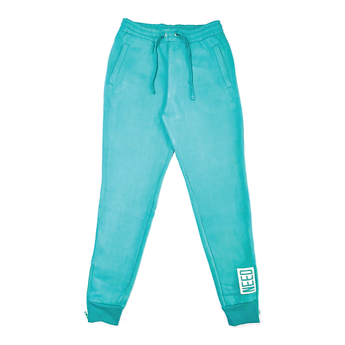 """NEED"" Sweatpants (Teal)"
