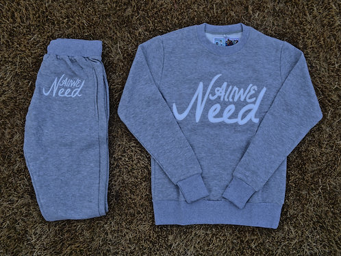 """All We Need"" Sweatsuit Grey"