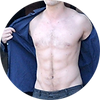 Robert Pattinson opening his shirt in the film New Moon, click to see the hand woven tapestry When you live forever, what do you live for?