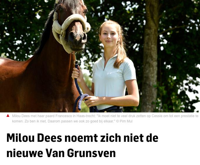 Dees noemt zich niet Van Grunsven