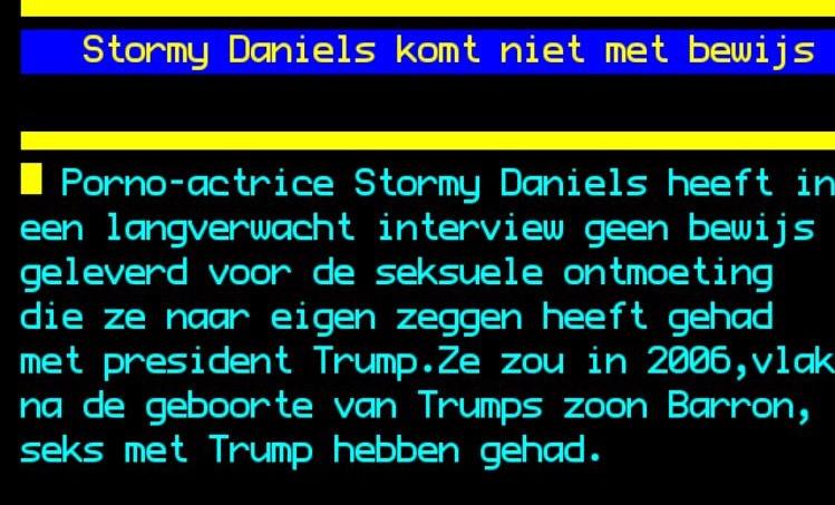 Stormy komt niet met bewijs