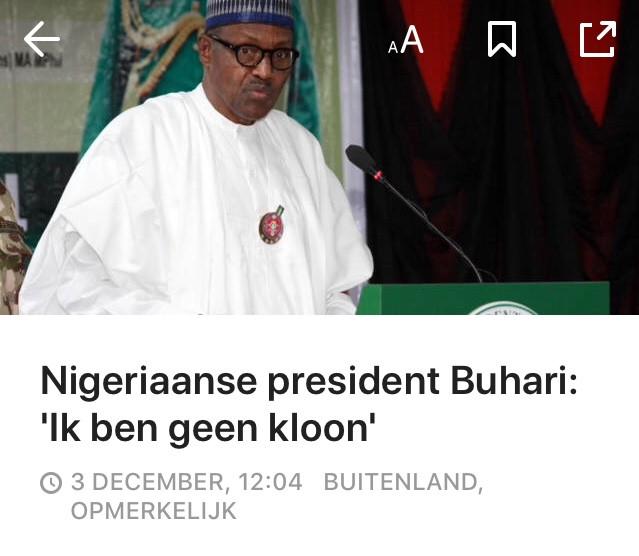 Nigeriaanse president: geen kloon
