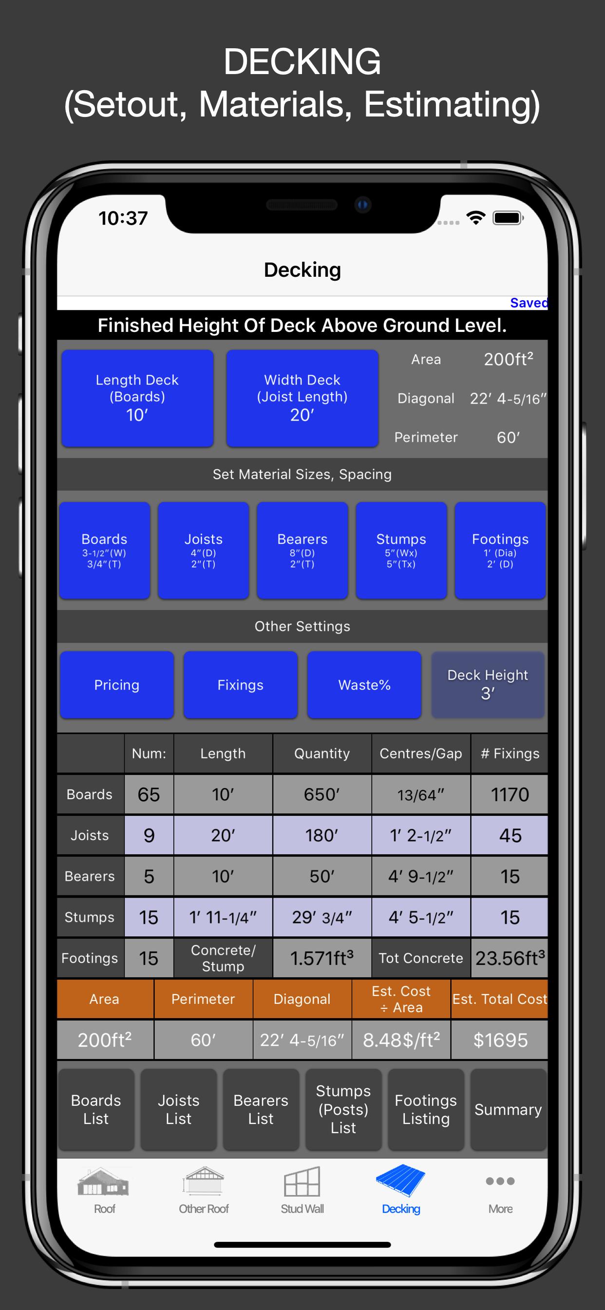 Decking Calculator / Estimator