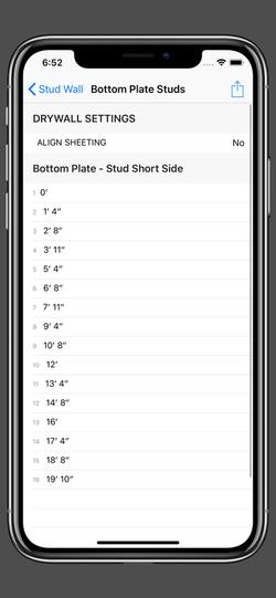 Stud Wall - Bottom Plate Studs