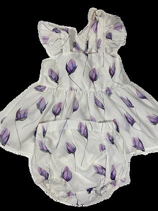 Purple Tulip Dress - 12-18 m